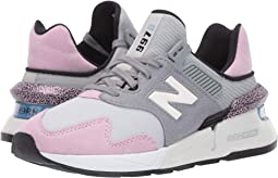 Steel/Crystal Pink Suede/Nylon