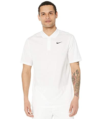 Nike Golf Dry Victory Polo Solid (White/Black) Men