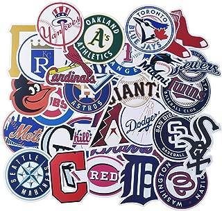 MLB All 30 Teams Stickers, Vinyl Waterproof Sport Fan Logo Decals of Major League Baseball for Water Bottles Helmet Hydroflasks Bicycle Motorcycle Car Bumper, Gift for Boys Men Teens Baseball Fans