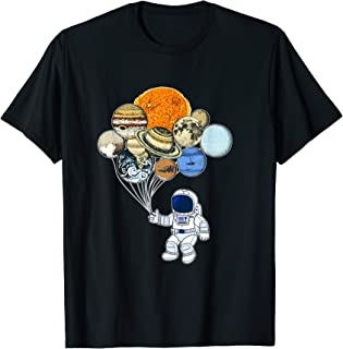 Funny Astronaut Planets Balloons Tee Spaceman T-Shirt Gifts
