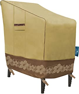Tommy Bahama 29104 Stackable (up to 6 Patio Chair Cover, Tan/Brown