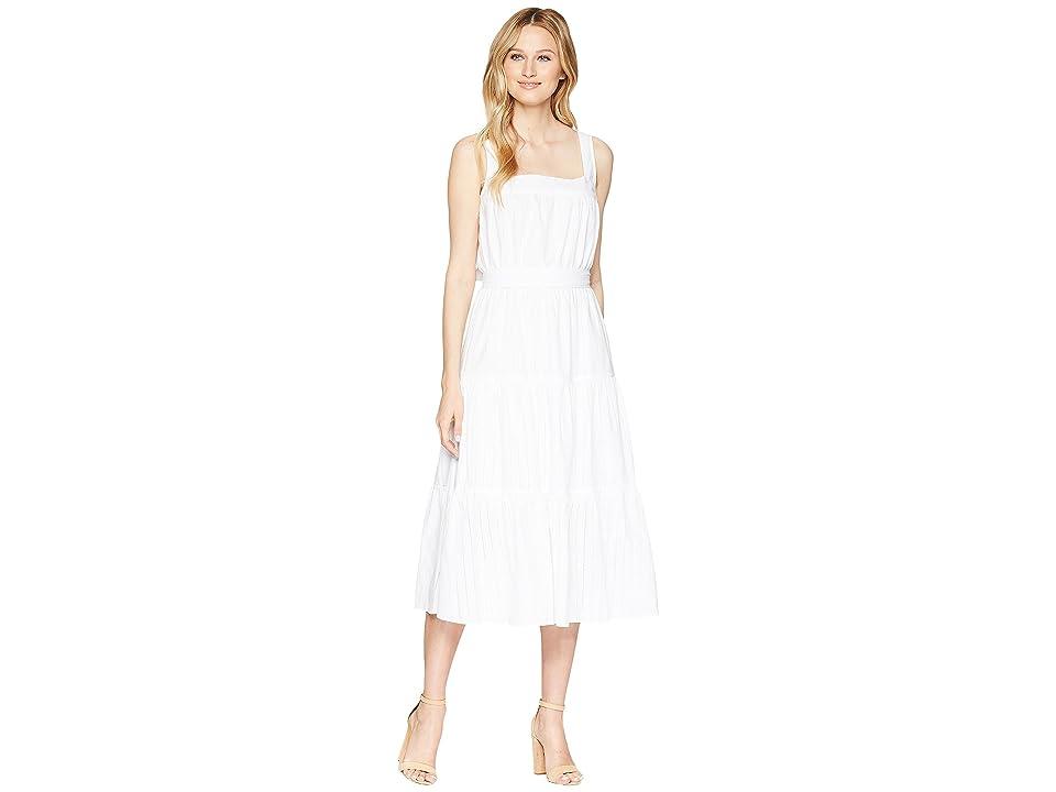 MICHAEL Michael Kors Tiered Midi Dress (White) Women