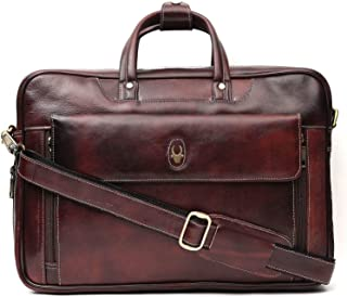 Wildhorn Genuine Leather Hand-Crafted Messenger Bags, Brown, 35 cm - WHMB521