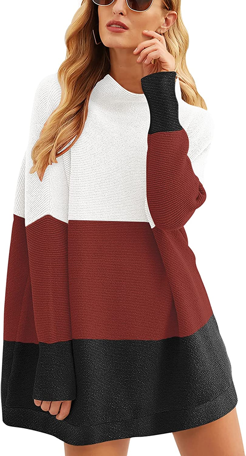 ANRABESS Women Casual shopping Miami Mall Turtleneck Batwing Sleeve Slouchy Oversize