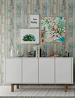 Hode Papel Adhesivo para Muebles Madera Azul Desprendible