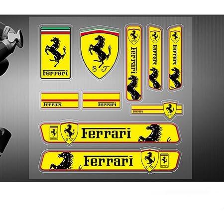 Encell 2er Set Pvc Auto Aufkleber Für Ferrari Küche Haushalt