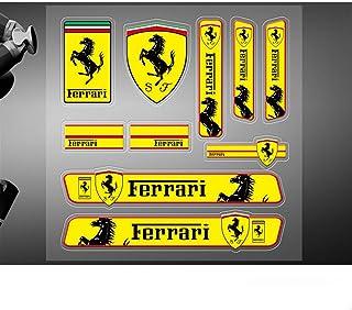 Encell 2er Set PVC Auto Aufkleber für Ferrari.