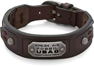 男性用ブレスレットFossil Men's Brown Bracelet JF86562040[並行輸入品]