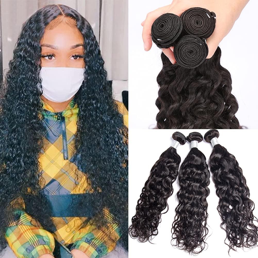 8A Brazilian Human Hair Max 47% OFF 3 Bundles For Black Women 100G Water Max 64% OFF Pcs
