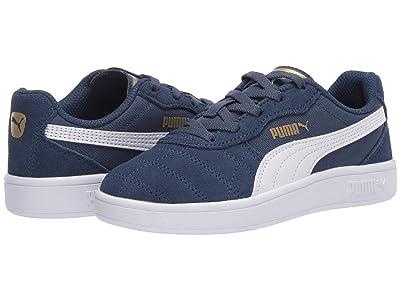 Puma Kids Astro Kick Slip-On (Little Kid) (Dark Denim/White/Team Gold) Boys Shoes