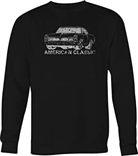 Vintage Classic Hotrod GTO Muscle Car Classic Crewneck Graphic Hoodie for Men