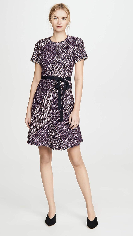 Rebecca Taylor Women's Short Sleeve Blanket Tweed Dress