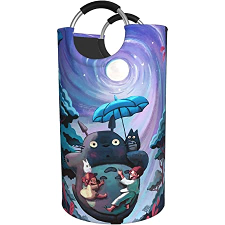Hot Japanese Anime My Neighbor Totoro Cartoon Cat Laundry Baskets Stylish Large Laundry Hamper Foldableoxford Fabric Dirty Clothes Hampers,Collapsible Hamper For Bathroom,Laundry Room