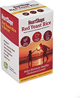 HeartShape Red Yeast Rice, 90 Count, 0.24 Pound