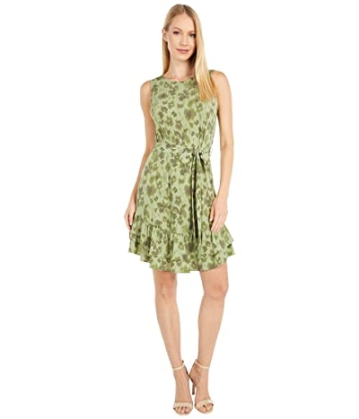 MICHAEL Michael Kors Mega Poppy Ruffle Dress (Light Sage) Women
