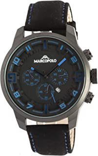 Marco Polo Wrist Watch for Men Leather
