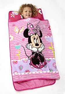Disney Minnie Mouse Toddler Rolled Nap Mat, Sweet as Minnie, Minnie Mouse - Sweet as Minnie