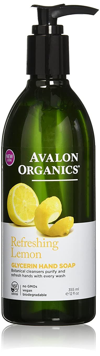 モバイル叙情的な有名アバロンオーガニック[AVALON ORGANICS]ハンドソープレモン355ml