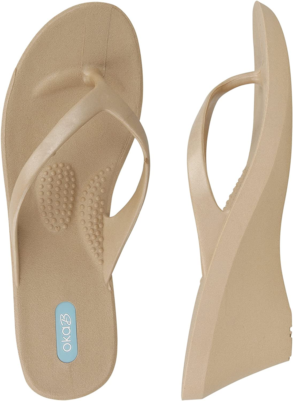 Oka-B Kylie Flip-Flop Wedge Sandal by OkaB