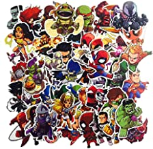 SetProducts  Top Stickers ! Lot de 50 Stickers Marvel - Autocollants HD Non Vulgaires – Bomb, Super Heros, Hulk, Spiderma...