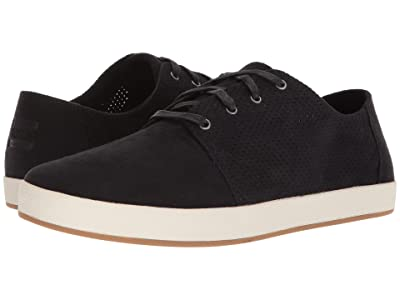 TOMS Payton (Black Perforated Synthetic Suede) Men