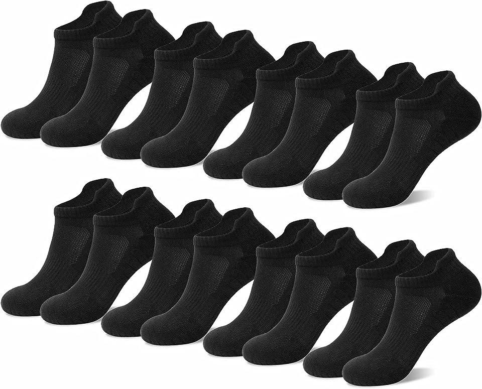 8 Paar Unisex Sneaker Socken Schwarz Weiß Grau 35 bis 50 Sportsocken Komfortabel Rutschfest