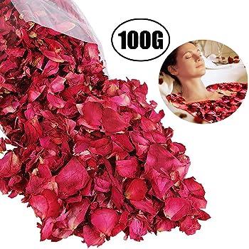 Pétalos de Rosa Secos Naturales Lvcky100 g de pétalos de Rosa roja ...