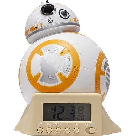 BulbBotz Réveil veilleuse avec Sons du Personnage pour Enfant Star Wars 2021395 BB-8, Plastic, Orange, 14cm