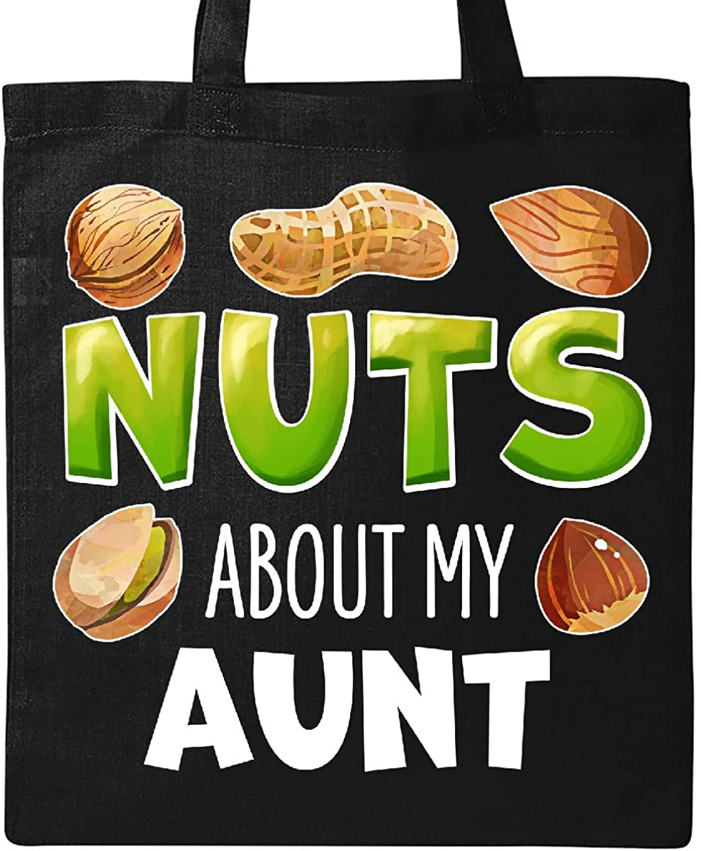 Almond Inktastic Nuts About My Aunt Peanut Pistachio Tote Bag