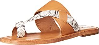 Frye Women's Felix Band Slide Flat Sandal, Camel Multi, 7 M US