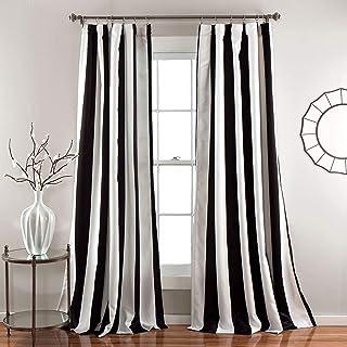 Amazon Com Black And White Striped Decor