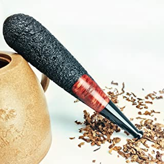 FULUSHOU 3 in 1 Mediterranean Briar wood Hand-made Tobacco Pipe, Multifunctional :Tobacco Pipe,Cigar Holder And Cigarettes Filter Cigarette Holder