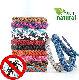 Fashionikon Anti-moustiques Bracelet 5pcs/5Couleurs Répulsif Insectes Bracelet Bracelets Durer jusqu'à 15Jours, Naturel huiles végétales, Non Toxique, sans DEET, pour Adultes et Enfants