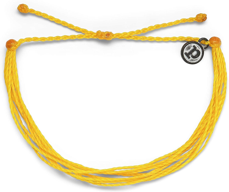 100/% Waterproof and Handmade w//Coated Charm Pura Vida Jewelry Bracelets Adjustable Band