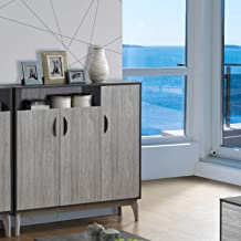Maison Concept Montero Cabinet, Black and Grey - H 1200 x W 340 x D 1200 mm