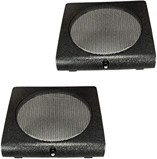tomzz Audio 2857-015 luidspreker rooster grill deurtas geschikt voor VW Golf 2 II, Jetta 2 II, zwart