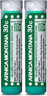 OLLOIS Arnica Montana 30c Pellets - 2 Pack Organic, Lactose-Free Homeopathic Medicine for Pain, Trauma, Bruising, 160 Count