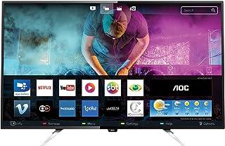 "Smart TV LED 50"" HD Conversor Digital WiFi 4 HDMI 2 USB, AOC LE50U7970, Preto"