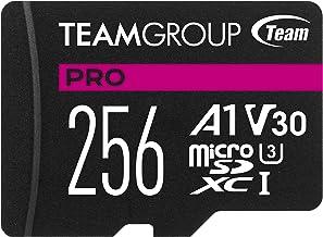 TEAMGROUP PRO A1 256GB microSDXC UHS-I U3 V30 A1 High...