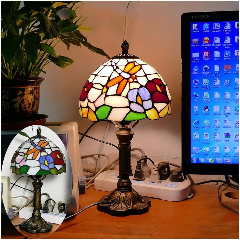 CJW Europäische Retro-Farbtischlampe - Glas im mediterranen Stil 8 Zoll (20 cm) B07PJ5GNNT | Offizielle Webseite