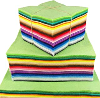 Soft Felt Fabric Squares Sheets, 60 Different Candy Colors Craft Square Sheet, Assorted Non Woven Patchwork Pack 60pcs 1.4mm Thickness (25 cm x 25 cm)
