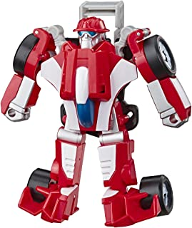 Playskool Heroes Transformers Rescue Bots Academy Heatwave the Fire-Bot Converting Toy, 4.5-Inch Action Figure, Toys for K...