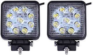 LARS360 2x27W Phare de travail LED Lumi/ère de travail carr/ée Offroad projecteur Floodlight Projecteur Floodlight Worklight 1755LM Noir en fonte daluminium IP67
