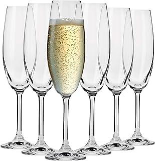 Krosno Flute Cristal de Champagne Verre | Lot de 6 | 200 ML | Collection Venezia | Parfait la Maison, Les Restaurants, Les...