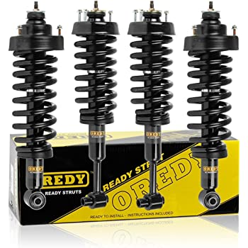 OREDY Full Set of 4 Complete Struts Assembly Shock Struts Coil Spring Assembly Kit 171583L 171583R 171325 11665 11666 15150 Compatible with Honda CRV 1997 1998 1999 2000 2001