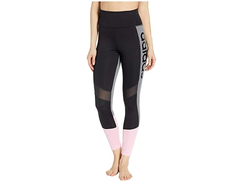 adidas Designed-2-Move High-Rise 7/8 Tights (Black/True Pink) Women