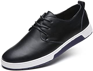 ZZHAP Men's Casual Oxford Shoes Breathable Flat Fashion Sneakers