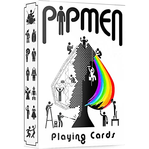 Unique Playing Cards, White Deck of Cards, Cool Pipmen Cards, Premium Poker Cards, Unique Kids Playing Cards for Children & Adults, Playing Card Decks Games, Standard Size