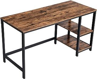 VASAGLE ALINRU Computer Desk, 55.1-Inch Long Home Office Desk for Study, Writing Desk with 2 Shelves on Left or Right, Ste...