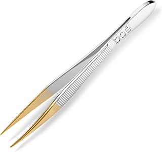 Point Tweezer Boé Perel Point Tip Eyebrow Tweezer - Professional Swiss Precision Hair Removal Tool Tweeze with Sharp Tip